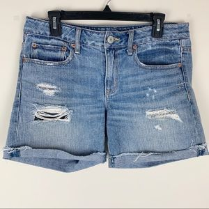 American Eagle Outfitters Distressed Jean Shorts 6